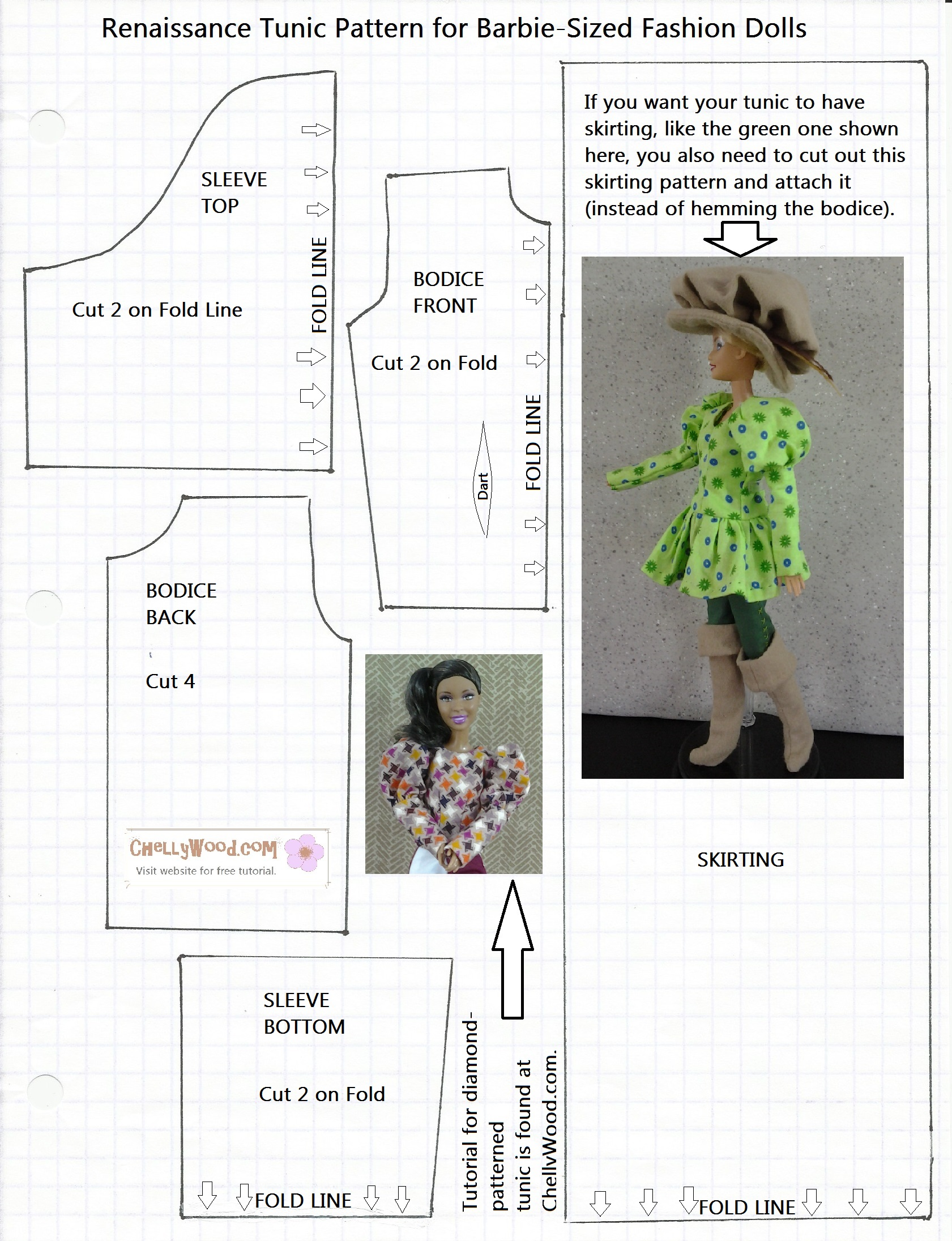 Free Printable Barbie Doll Clothes Patterns Free Doll Clothes Patterns