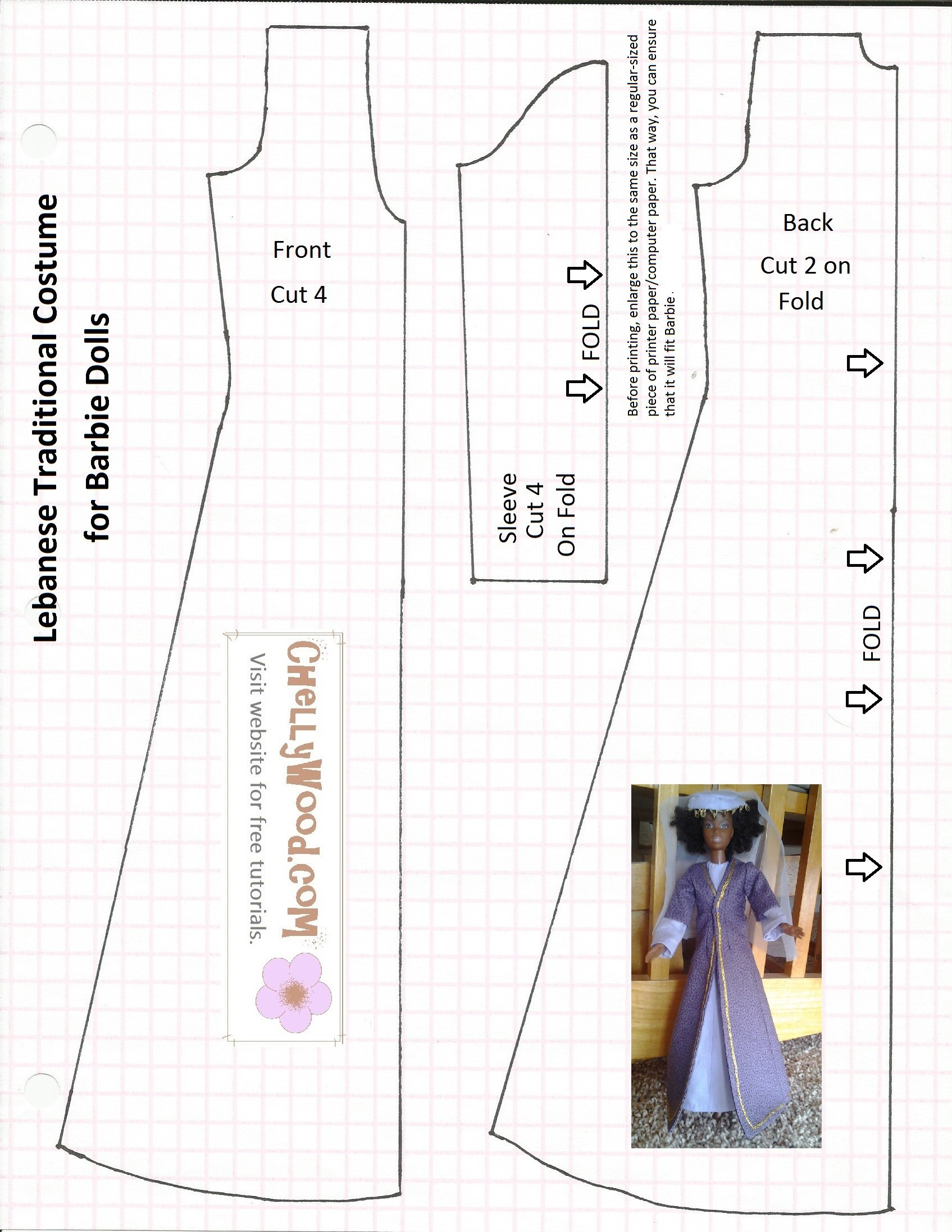 Old Pattern Page Free Doll Clothes Patterns