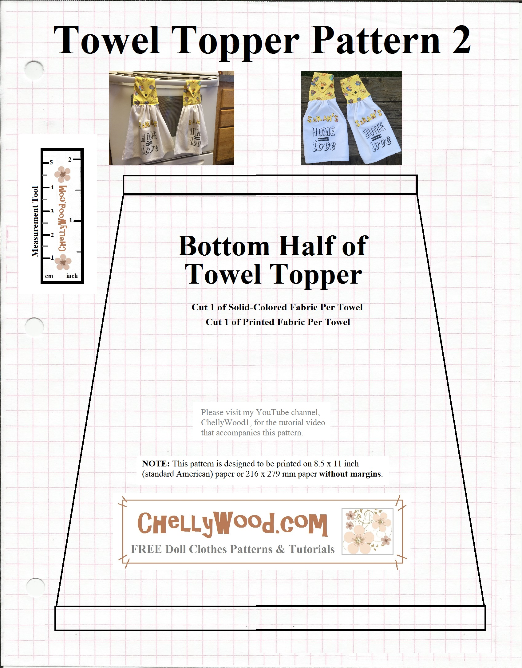 Sew A Tea Towel W Free Pattern Chellywood Com Sewing Diy Gift Free Doll Clothes Patterns