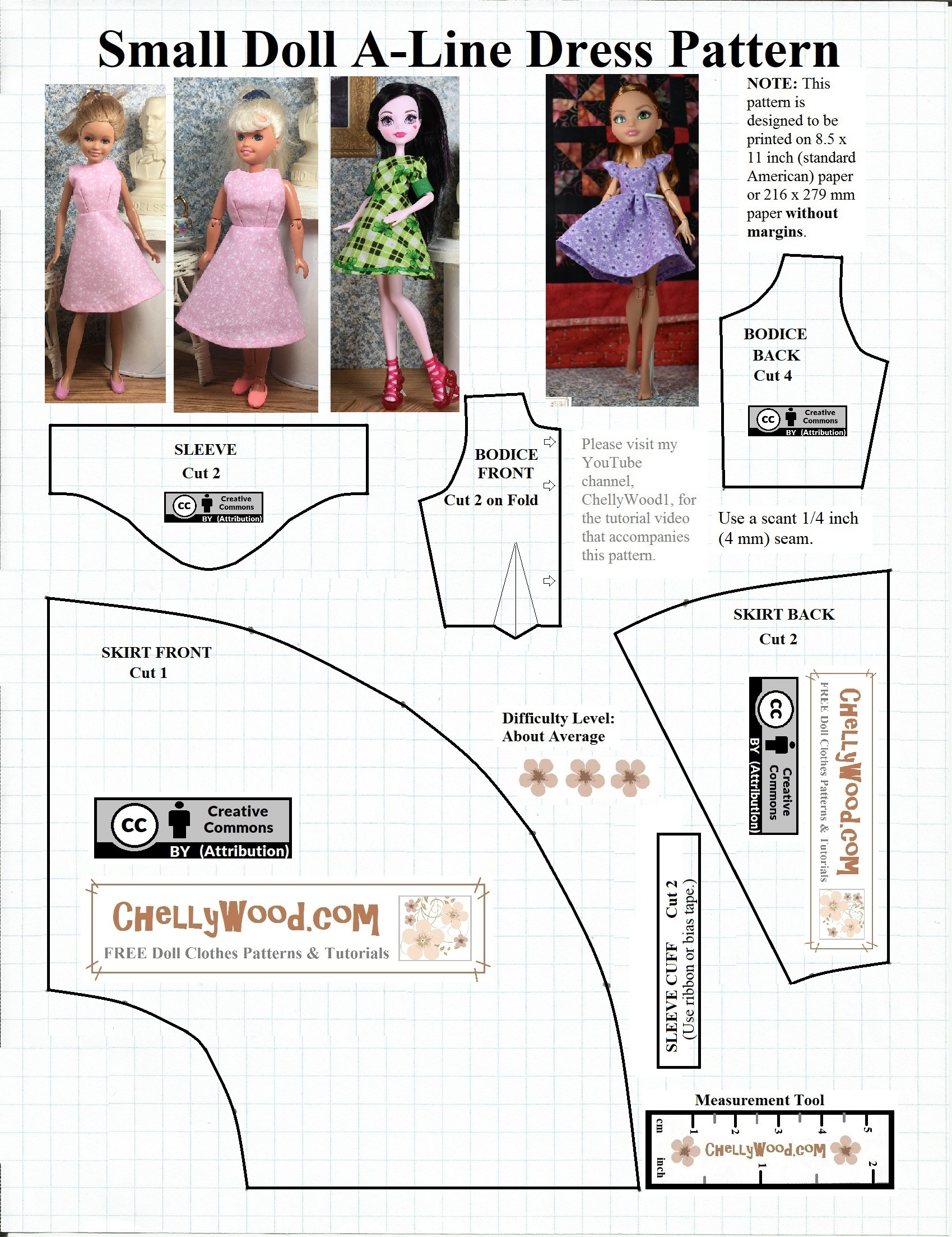 Free Monsterhigh Dolls Dress Pattern Chellywood Com Free Doll Clothes Patterns