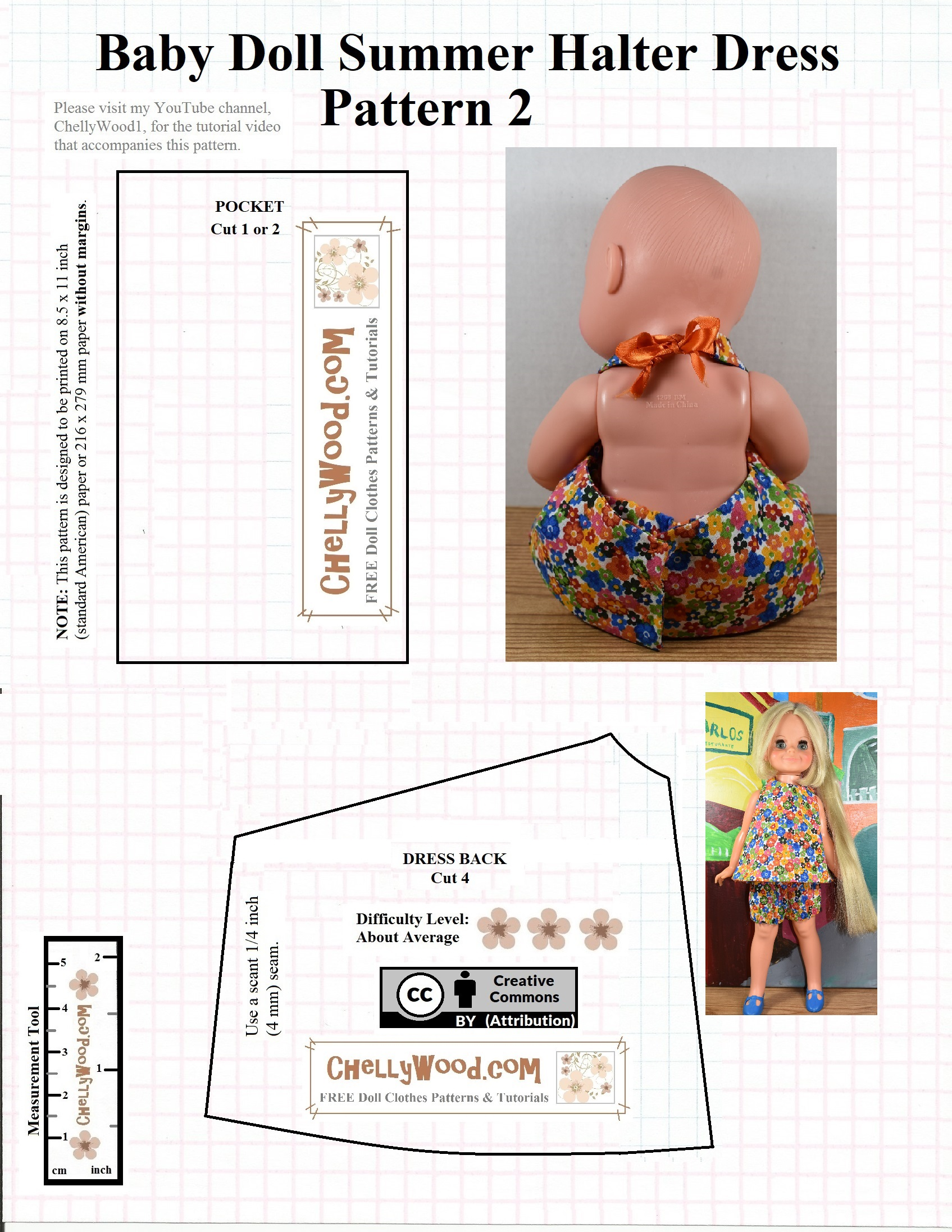 Sew A Summer Outfit For Baby Dolls W Free Pattern Chellywood Com Free Doll Clothes Patterns